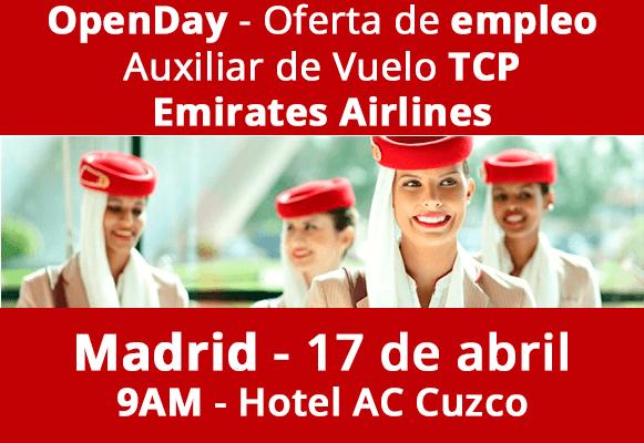 Oferta de empleo para tcp emirates busca auxiliar de - Ofertas de empleo madrid ...